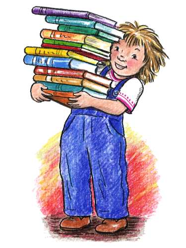 Child with books jpg