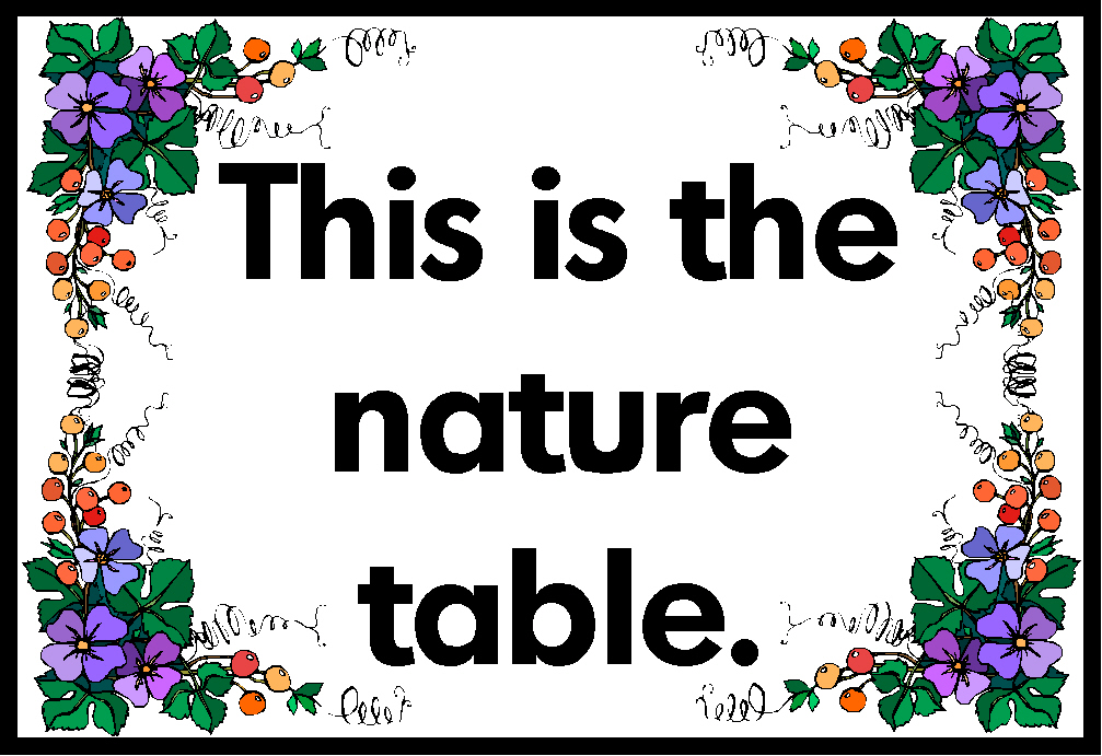 This is the Nature Table